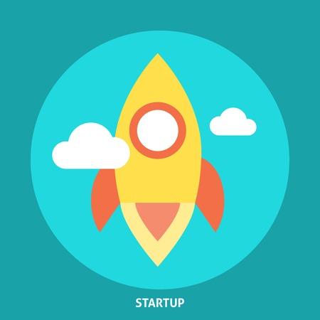 Start Up Rocket Icon. Editable EPS format Vector