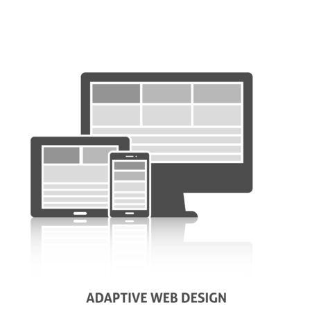 adaptive: Adaptive Web Design Icon. Editable EPS format Illustration