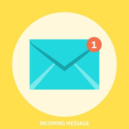 Envelope Icon Flat. Editable EPS format