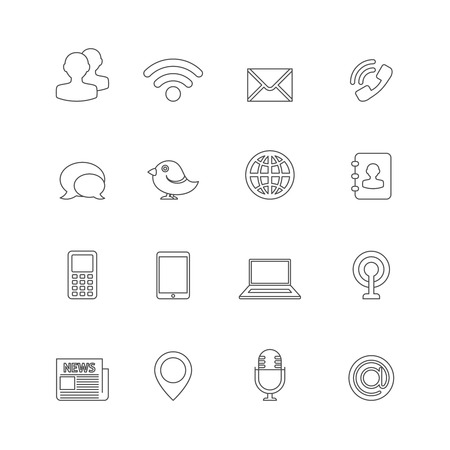 Communication Icons Outline.