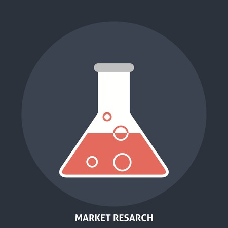 Market Research. Editable EPS format Vector
