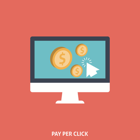pay: Pay Per Click. Editable EPS format