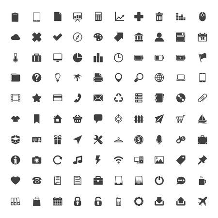Web Icons Big Set. Vector Illustration