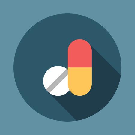 Medicine Tablets Icon. Editable EPS vector format