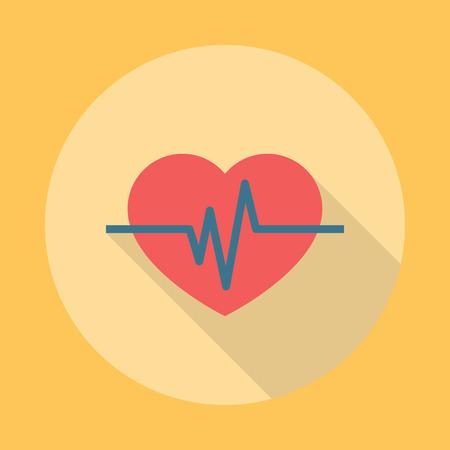 Heartbeat Icon Flat. Editable EPS vector format