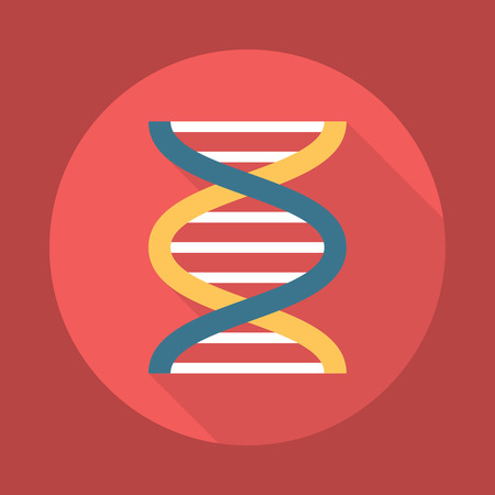 dna double helix: DNA Helix Icon. Editable EPS vector format