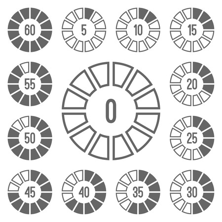 Timer Icons Set Gray. Editable EPS format