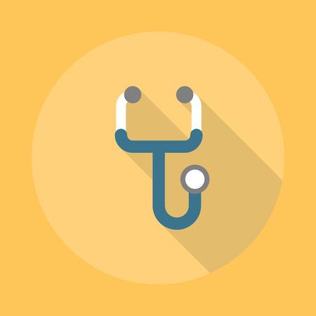 phonendoscope: Phonendoscope Flat Icon. Illustration