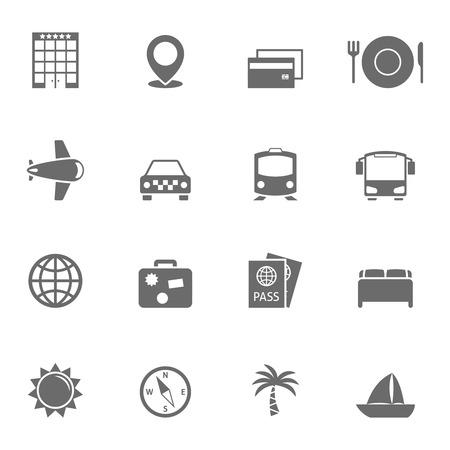 Travel Icons Set. Editable vector format
