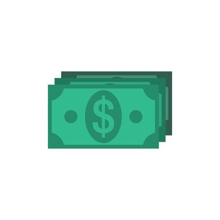 business credit application: Money Icon Flat. Editable EPS vector format Illustration
