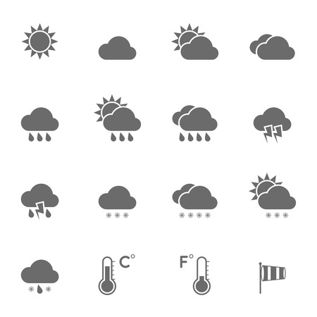cold weather: Weather Icons Set.