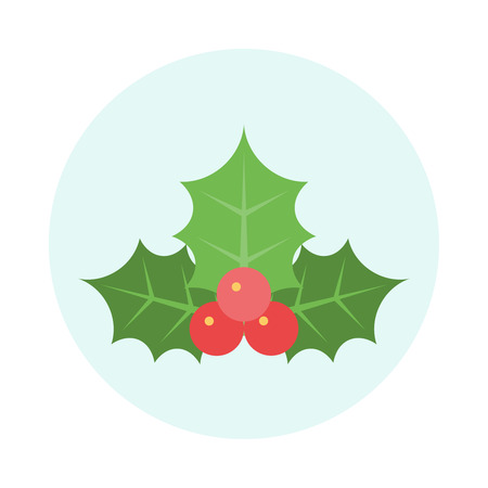 Christmas Holly Icon. Editable EPS vector format  イラスト・ベクター素材