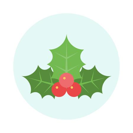 Christmas Holly Icon. Editable EPS vector format Vettoriali