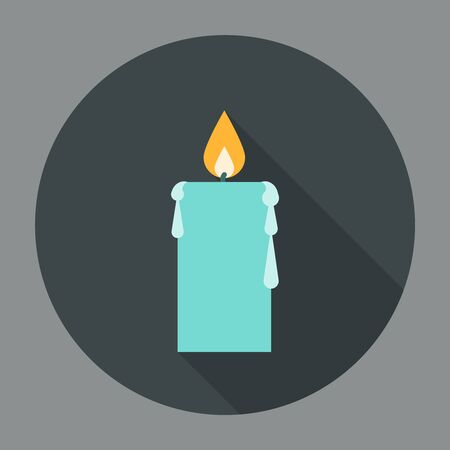 Candle Icon Flat. Editable EPS vector format Illustration