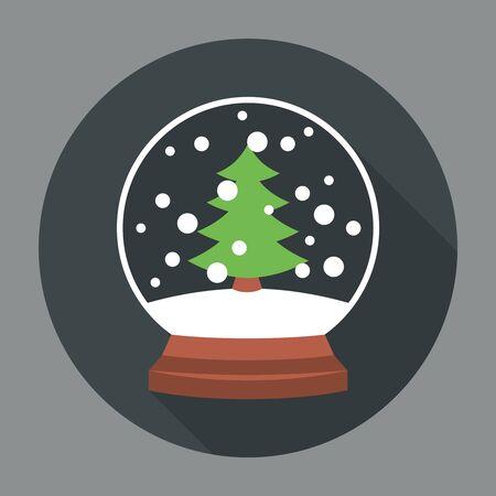 snowball: Snowball Icon Flat. Editable EPS vector format