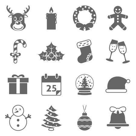 christmas sock: Christmas Holiday Icons. Editable EPS vector format Illustration