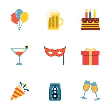 Party Icons Flat.
