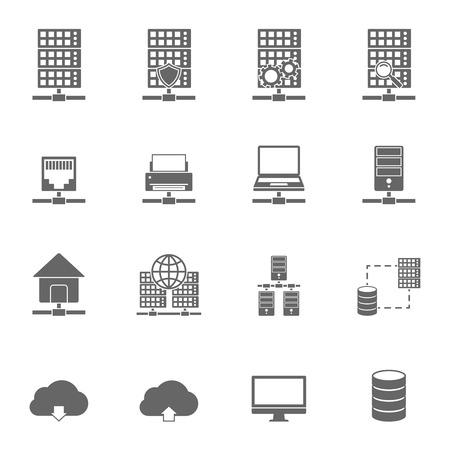 server technology: Server Hosting Icons.