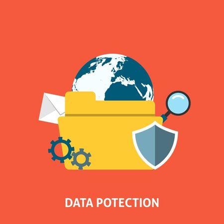 Concetto di protezione dei dati.