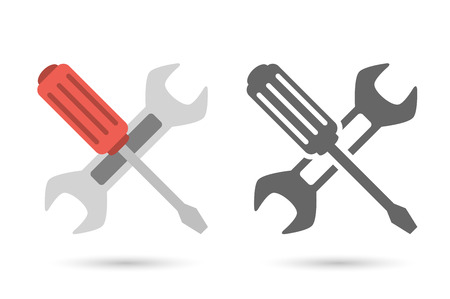 Repair icon. Wrench and screwdriver. Editableformat Illustration
