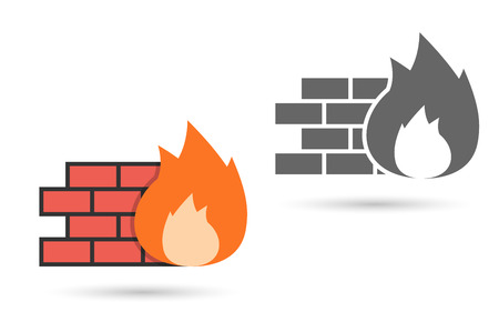 Firewall Icon . Editable  format