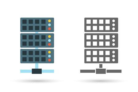 サーバー ベクトル アイコン イラスト。編集可能なベクトルの形式