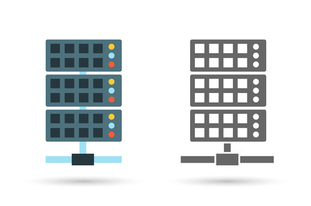 Server vector icon illustration. Editable vector format