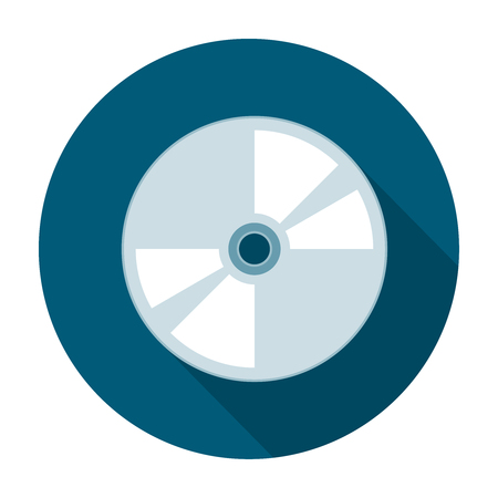 cd r: Compact disk icon flat. Vector Laser Disk