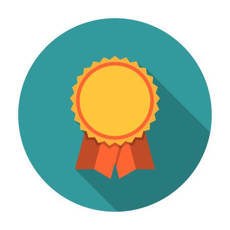 Award ribbons flat icon. Editable EPS format