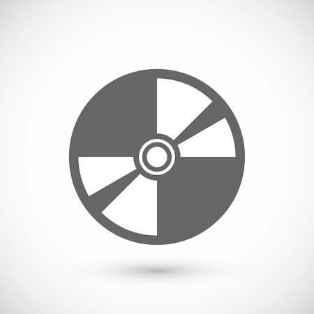 Compact disk icon. Compact disk symbol. Flat Vector illustration