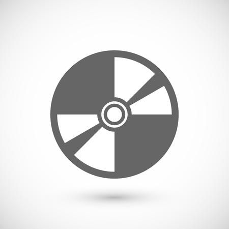 compact disk: Compact disk icon. Compact disk symbol. Flat Vector illustration