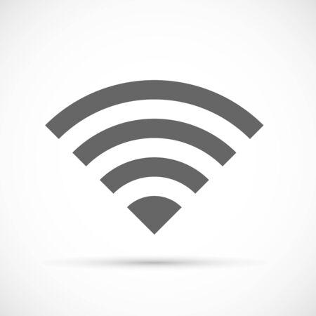 wireless signal: Wireless icon flat. Wireless modem signal symbol
