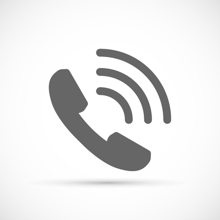 ringing phone: Phone Call icon. Vector Ringing Phone Icon Illustration
