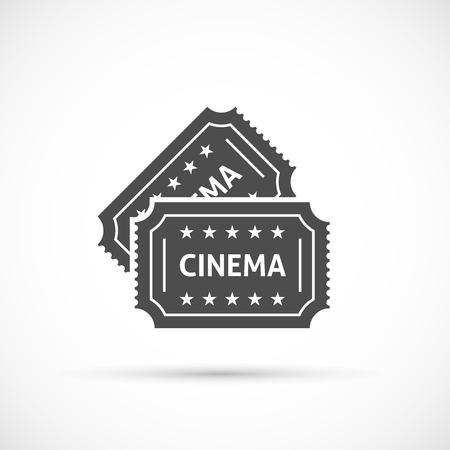 releasing: Cinema ticket icon. Retro cinema tickets icon