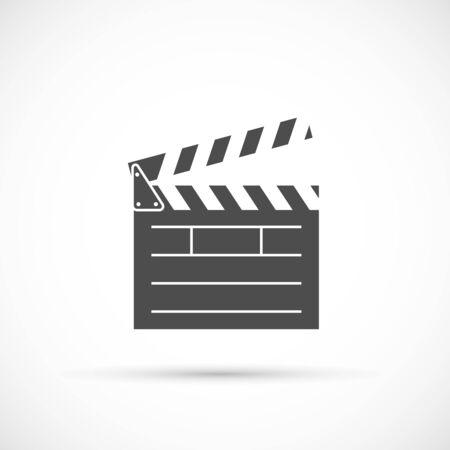 clap board: Clapper board icon. Film clap board cinema vector Illustration