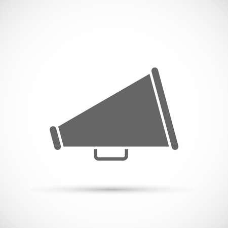loudspeaker: Megaphone icon. Loudspeaker icon. Loudspeaker isolated symbol