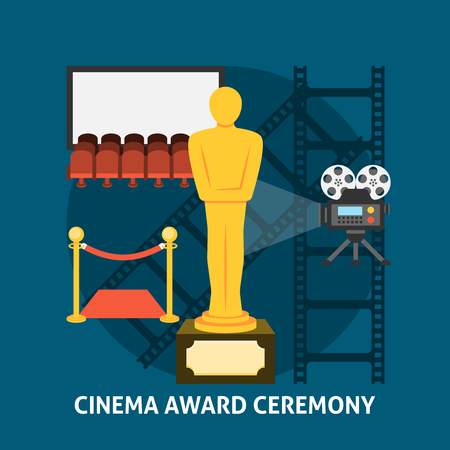 award ceremony: Cinema award ceremony. Cinema festival movie theater entrance