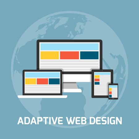 adaptive: Web development concept. Adaptive web design illustration
