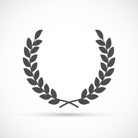 Laurel wreath icon. Antiquity award victory and excellence symbol Illustration