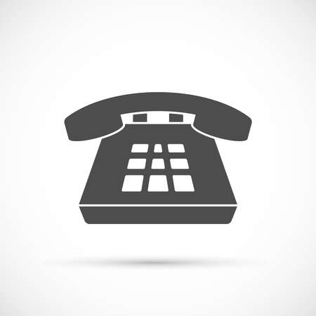 Desk phone icon. Classic phone with buttons symbol
