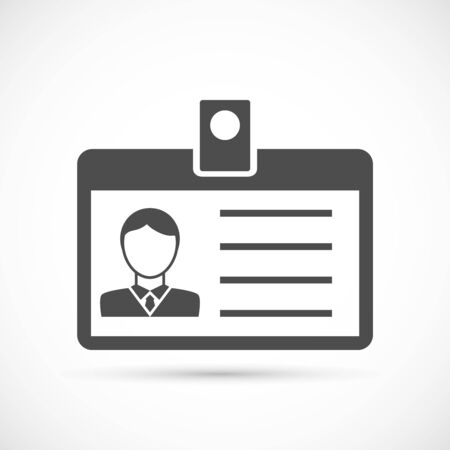 identity card: Identification card for man icon. Identification card illustration