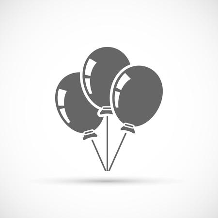 baloons: Baloons icon isolated on white background. Party symbol Illustration
