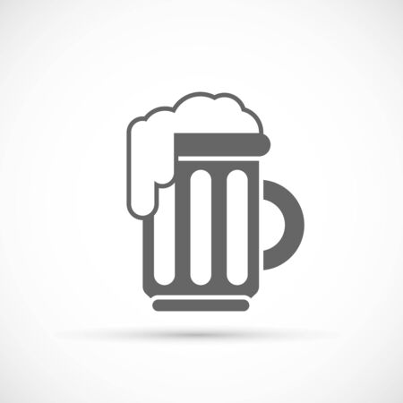 Glass of beer icon. Alcohol drink symbol for party