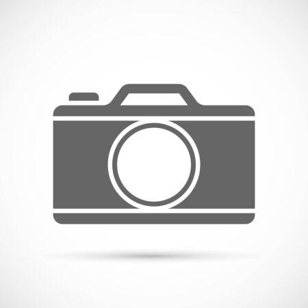 Photo camera icon on white background. Vector illustration. Illustration