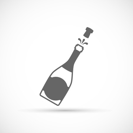 Champagne Bottle Icon. Vector bottle of Champagne explosion  イラスト・ベクター素材