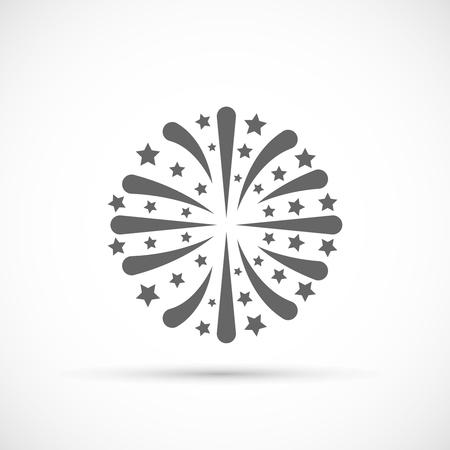 celebration party: Firework vector icon. Celebration or party symbol