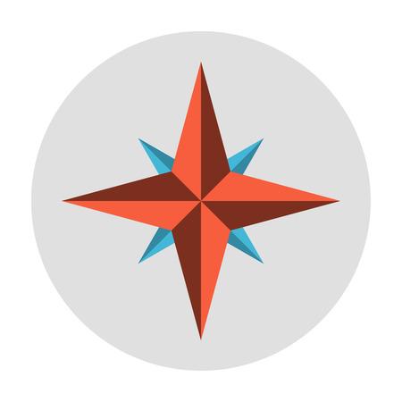 compass rose: Wind rose symbol. Compass flat icon vector illustration Illustration