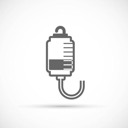 gore: Drop counter icon. Groove for pouring medication drops Illustration
