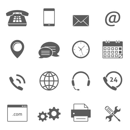 adress: Contact us icons. Support feedback service icons