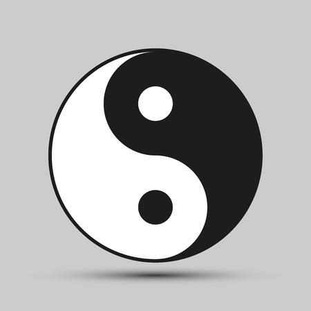 ying: Ying yang balance. Symbol of harmony and balance
